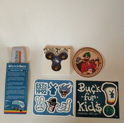 Dutch Bros Stickers Spinner Air Freshener