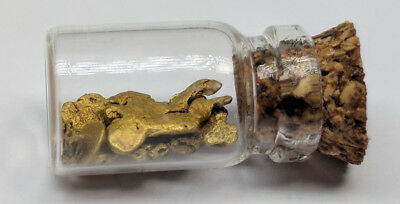Natural Yukon Gold Rush Nuggets + Flakes 1.0 Gram, Large Nuggets Real Gold