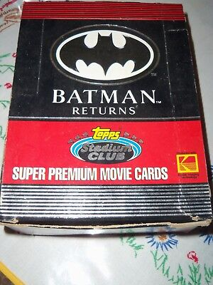 1991 Batman Returns Super Premium Movie Cards Kodak Topps Stadium Club Wax Box