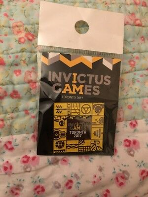 Official Invictus Games Badge 2017 Toronto Pin BNIP