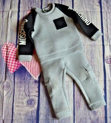 Moschino Baby Boy Or Girl Designer Jogging Suit 2 Years Good Condition