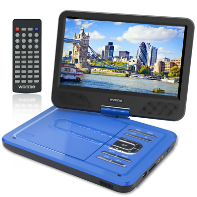 """WONNIE 10.5"""" Portable DVD Player with 270° Swivel Screen Built-in Rechargeable B"""
