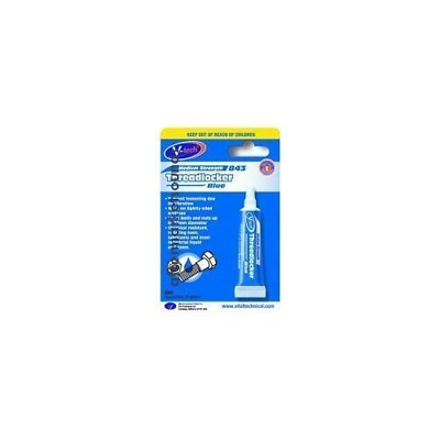 V-Tech Anaerobic Thread Lock Blue Medium Strength 6ml Locks Nuts & Bolts