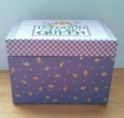 Mary Engelbreit It's Good To Be Queen Recipe Cards & Box 2004 Colorbok Royalty