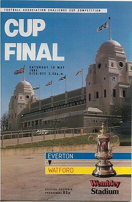 EVERTON v WATFORD FA CUP FINAL WEMBLEY 1984