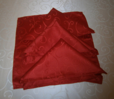 Christmas Concepts® 45cm x 45cm Pack Of 4 Red Damask Napkins
