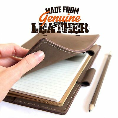 Leather Note book by Snobtool – Genuine Leather Bound Refillable Journal Note...