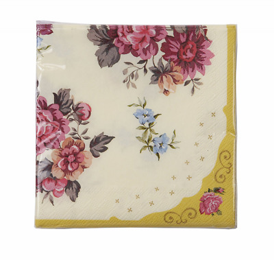 Talking Tables Truly Scrumptious Floral Napkins for Birthday, Tea Party, Wedding