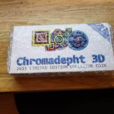 Niue 2015 2$ Chromadepth 1oz Silver Coin with 3D Glass