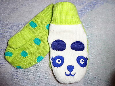 NWT Gymboree Color Happy holiday mittens gloves 4t 5t 4 5 Panda Bear store close