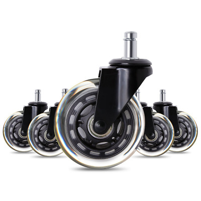 Antaprcis Office Chair Caster Wheels Roller Rollerblade Style Castor Wheel Repla