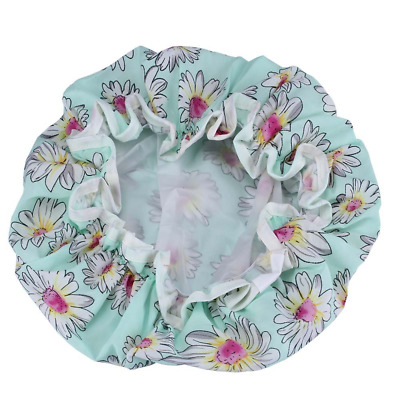 2 Pack Fashion Design Stylish Reusable Waterproof Shower cap with Beautiful patt