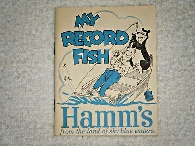 Hamm's Beer Recoed fish book 1963 Hamm's Bear Very good not used 30 pages
