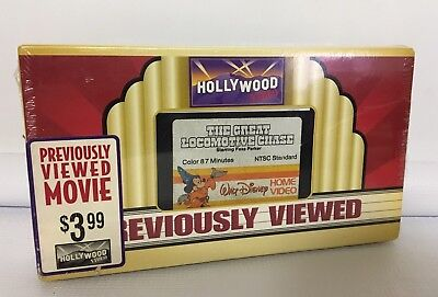 The Great Locomotive Chase VHS Walt Disney Hollywood Previously Viewed Tape