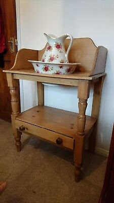 Victorian wash stand with jug and bowl