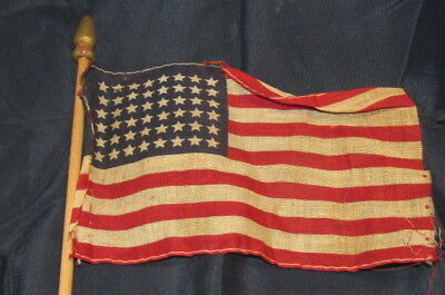 WWII US Military 48 Star Parade Waving Flag