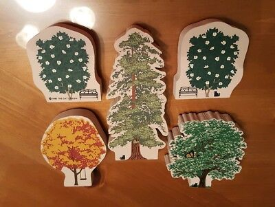 LOT of 5 Cats Meow Trees, Hospice, Dogwood, Redwood, Maple