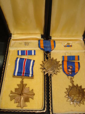 Wwii U.s. Army Air Corps Distinguished Flying Cross & 2 Air Medal Group