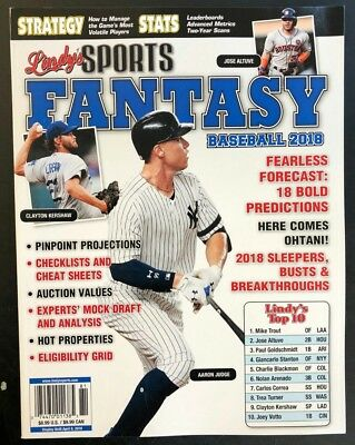 2018 LINDY'S SPORTS FANTASY BASEBALL GUIDE  athlon illustrated ESPN preview