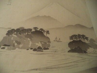 * Japanese woodblock print * Landscape of Mt. Fuji from Tago Bay