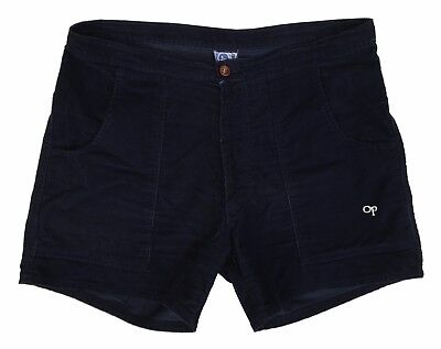OCEAN PACIFIC OP J12 Mens Navy Blue Corduroy Rare 70's Dogtown Surf Shorts 34