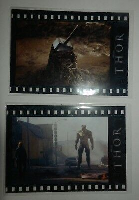 Thor film cel cards Marvel MCU Upper Deck M-30 Mjolnir M-37 Destroyer