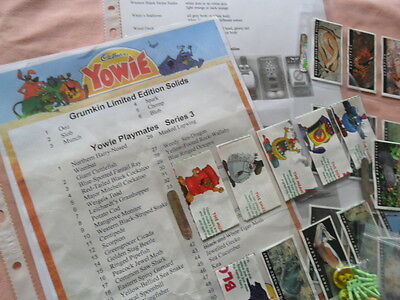 YOWIES SERIES 3 COMPLETE FULL SET of 56 WITH GRUMKINS + CHECK LIST + PAPERS