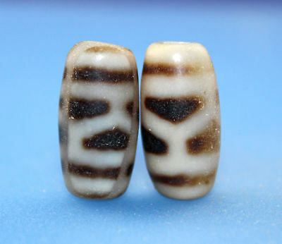 21*11 mm Antique Dzi Agate old Bead from Tibet **Free shipping**