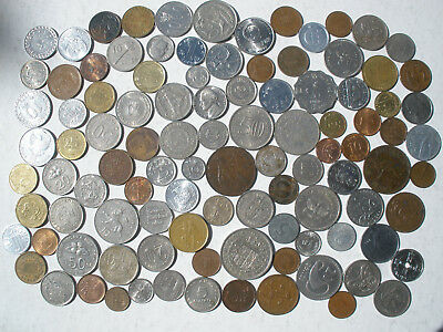COIN COLLECTION - OVER 100 DIFFERENT COINS - 450g