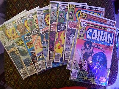 CoMIC BooK LoT x11  CLEAN HIGHER GRADE CoNAN THE BARBARIAN MoRE LISTED LooK!
