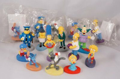The Simpsons Panini 3D Figurine Lot of 16 - from the Sticker Album Book