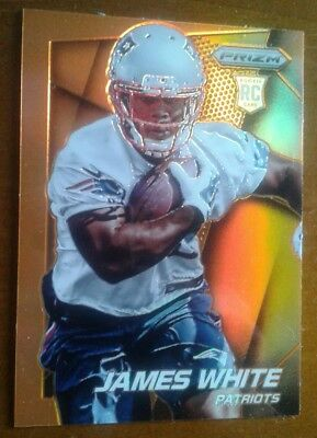 James White RC  Prizm NFL Orange Insert  card
