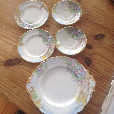 Paragon Fine China England Woodland Bluebell Plates,cake Plate