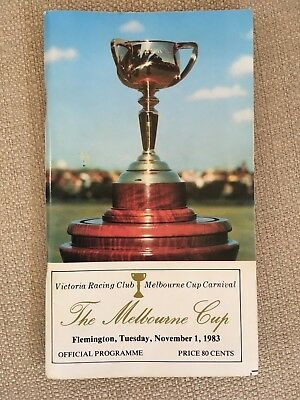 1983 The Melbourne Cup Official Programme In Very Good Condition