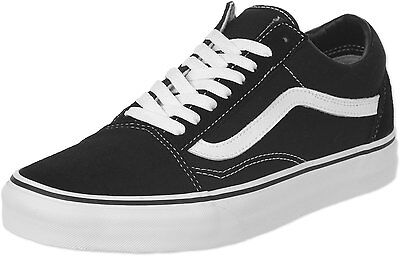 Vans Old Skool Black White Mens Womens Canvas Fashion Skate Shoes Sizes