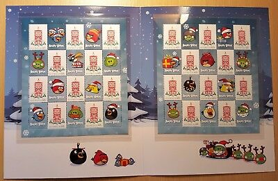 2013 Christmas Angry Birds Sheetlet Stamp Presentation Pack (MUH) Official