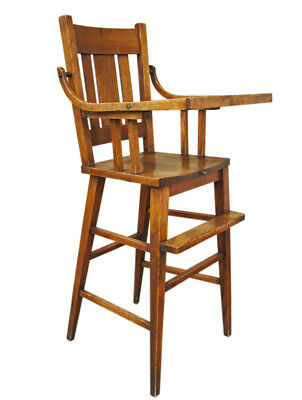 Antique Arts & Crafts High Chair  inv416