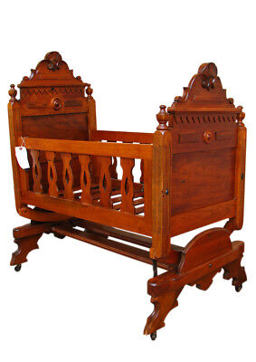 Antique Victorian Cradle inv9895