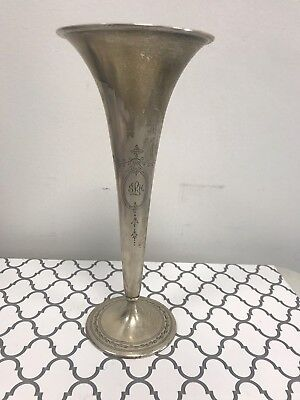 Gorgeous Antique Vintage Tiffany & Co. Sterling Silver Trumpet Vase