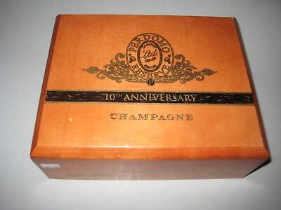 Beautiful Large PERDOMO RESERVE CHAMPAGNE 10th ANNIVERSARY Wooden Cigar Box