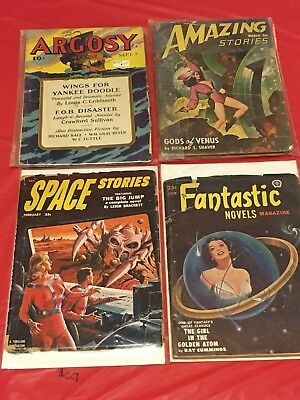 21 PULPS LOT Low-Mid Grade Amazing Stories Planet Stories Science Fiction