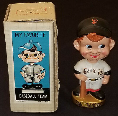 1968 San Francisco Giants - Bobble Head Nodder With Box - Made In Japan Original
