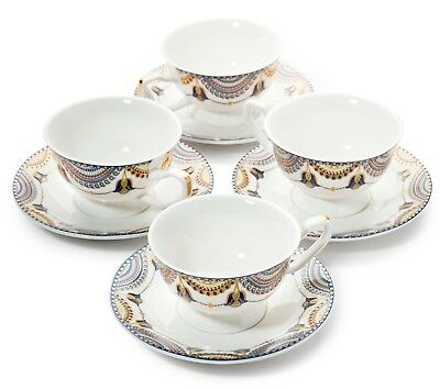 Tea Cup and Saucer set of 4 from Pretty Little Teacups in Gift Box