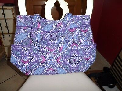 Vera Bradley Pleated tote in Lilac Tapestry #2