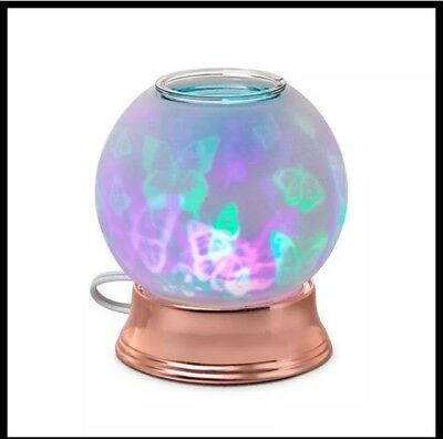 PartyLite ELECTRIC SCENTGLOW AROMA MELTS COLORED BUTTERFLY FLURRY WAX WARMER NIB