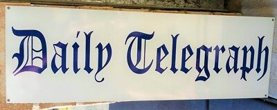 DAILY TELEGRAPH ENAMEL SIGN 900mm x 300mm (MADE TO ORDER) #06