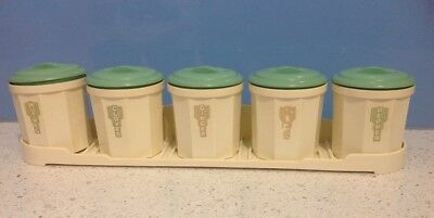 Vintage Iplex Spice Canisters with Tray