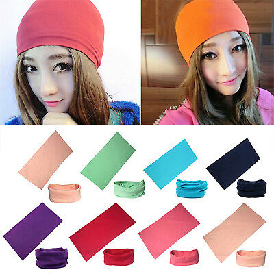Solid Tube Scarf Bandana Head Face Mask Neck Gaiter Snood Headwear Beanie HIGH