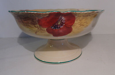 Royal Doulton Poppies in Cornfield Large Compote Pedestal Bowl D5097 circa 1930