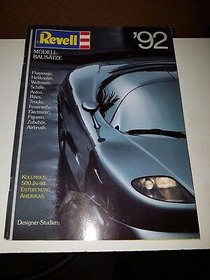 Revell Toys And Model Kits 1992 Catalogue In Very Good Condition (In German)